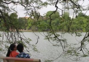 Romantic autumn in Hanoi