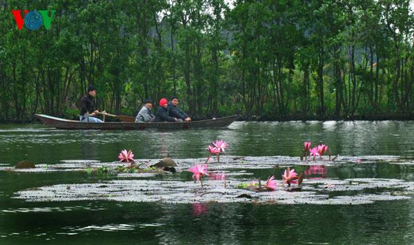 Yen River near the Huong (Perfume) pagoda