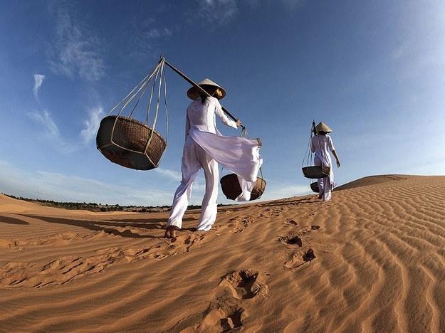在宾·瑟安省的穆涅撒哈拉般的沙丘