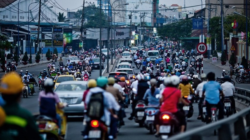 The usual heavy traffic in Ho Chi Minh often comes with a lot of honking. Photo credit: Bloomberg