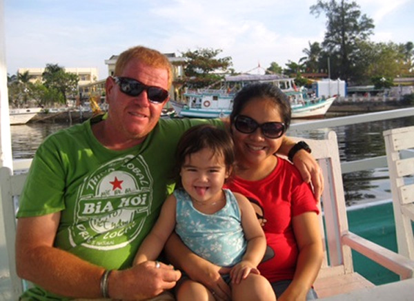 Happy family: Briton Steve Reid and his wife and little daughter. — Photos courtesy of Steve Reid