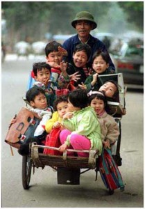 The cyclo in Vietnam