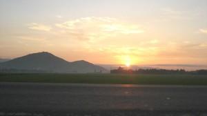 A peaceful dawn on Go Gang raft village