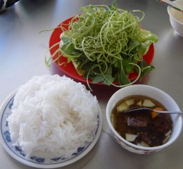 Types of Vietnamese rice vermicelli