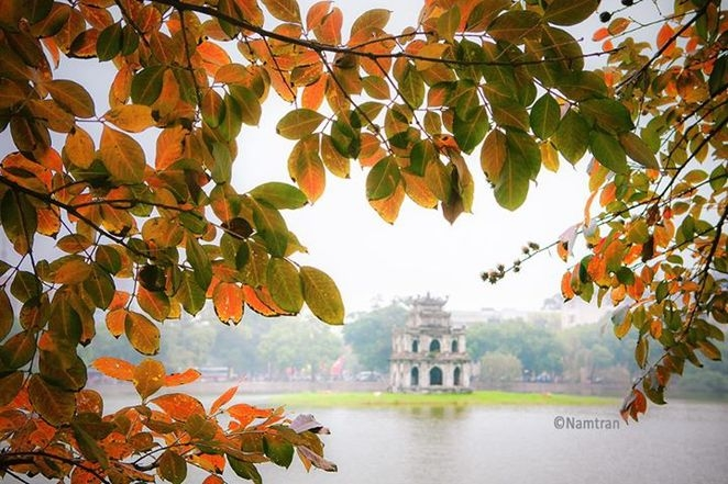 There is a peaceful Hanoi