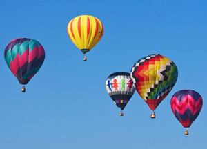 International hot air balloon performance in the North of Viet Nam